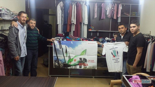 Purchasing clothing for Syrian refugee's.